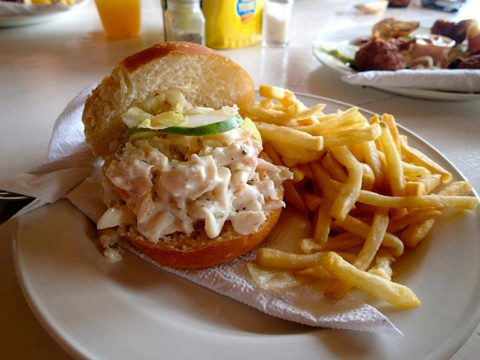 Food + Drink food plate table fries dish meal hamburger breakfast cuisine fast food lunch Seafood restaurant pasta served piece de resistance