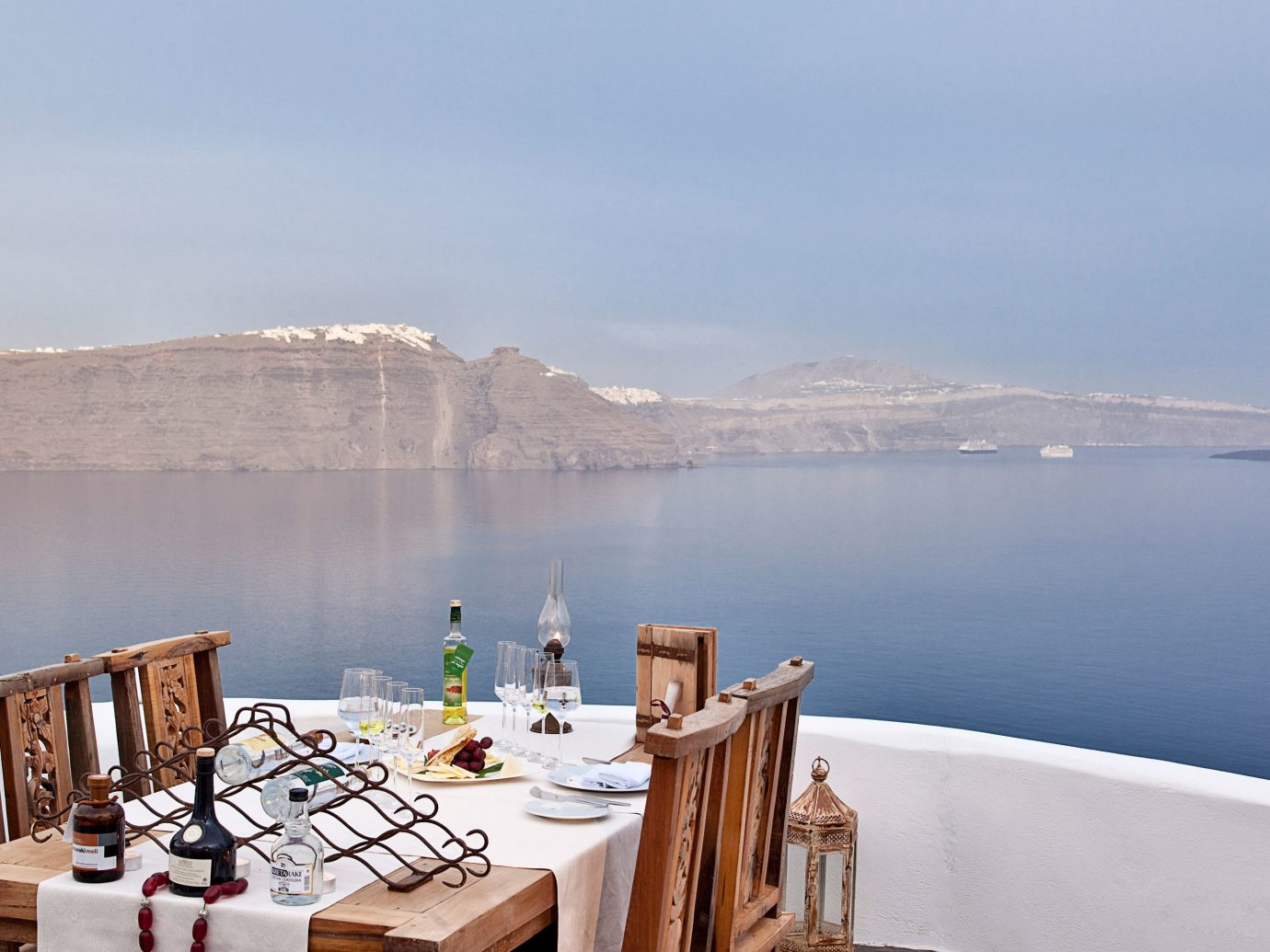 View from Lycabettus Restaurant, Oia, Greece