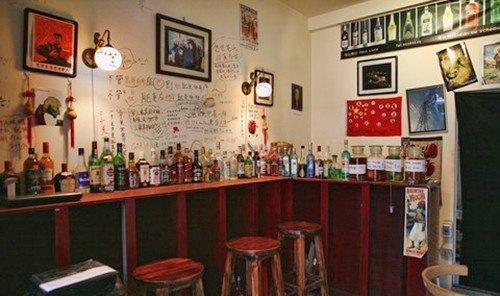 Jetsetter Guides indoor restaurant Bar area table several cluttered