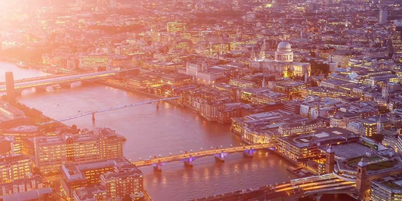 News cityscape City reflection metropolis evening several