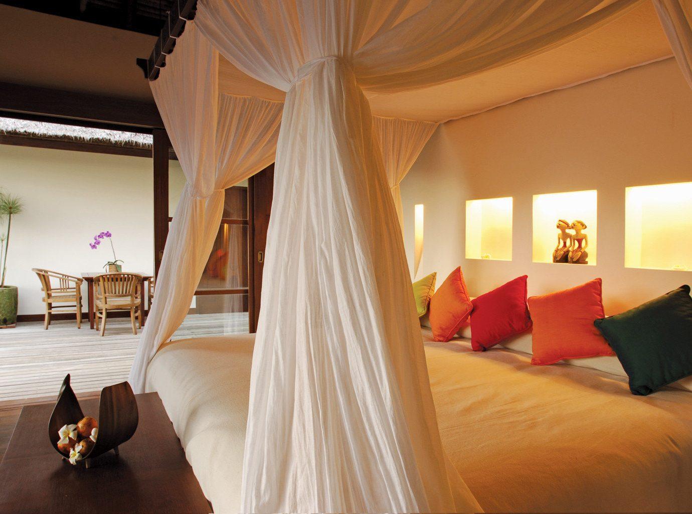Bedroom Elegant Luxury Suite Trip Ideas indoor bed room property curtain estate hotel interior design Villa cottage furniture