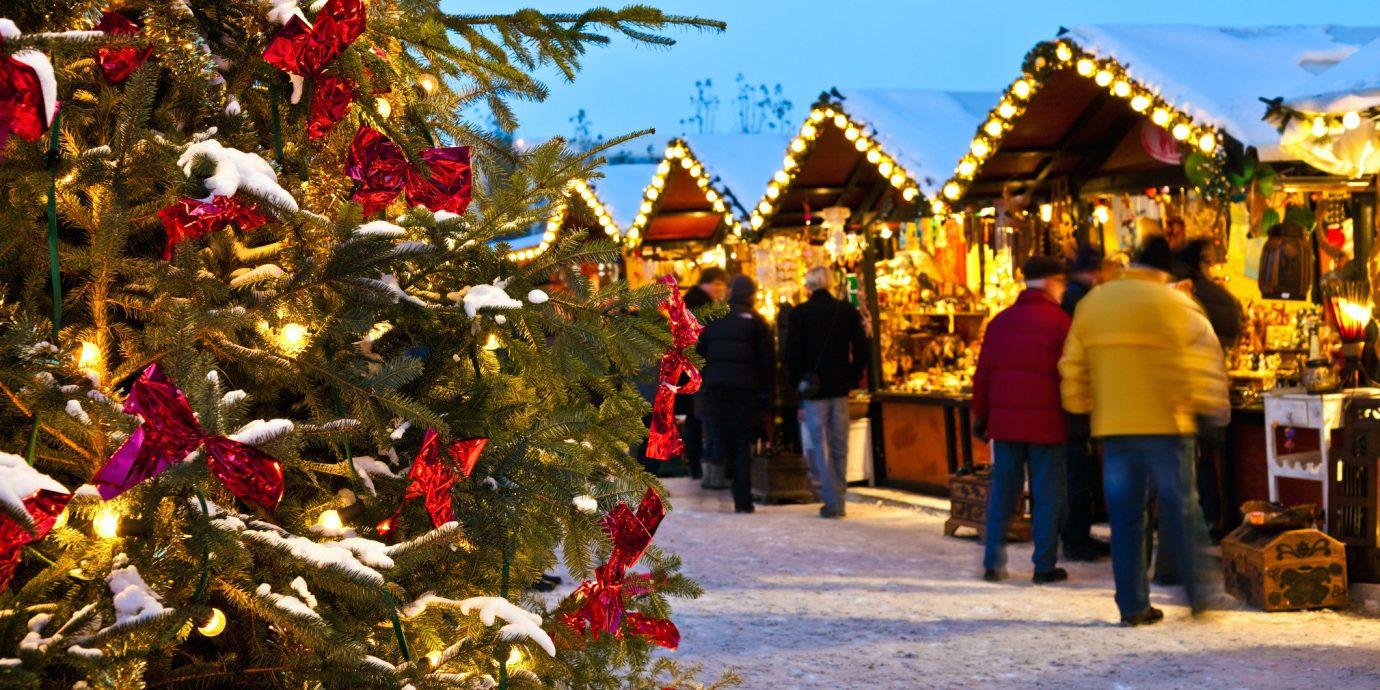 Trip Ideas tree outdoor person public space tourism people christmas decoration Christmas flower temple market shrine