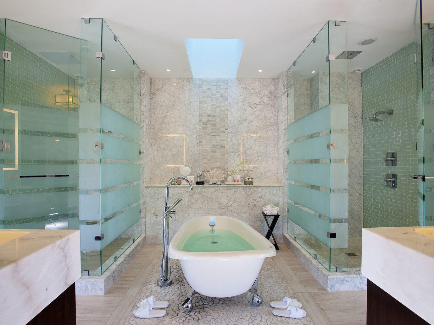 All-Inclusive Resorts caribbean indoor bathroom wall sink room interior design Architecture glass home tile floor plumbing fixture estate daylighting ceiling angle interior designer window Bath