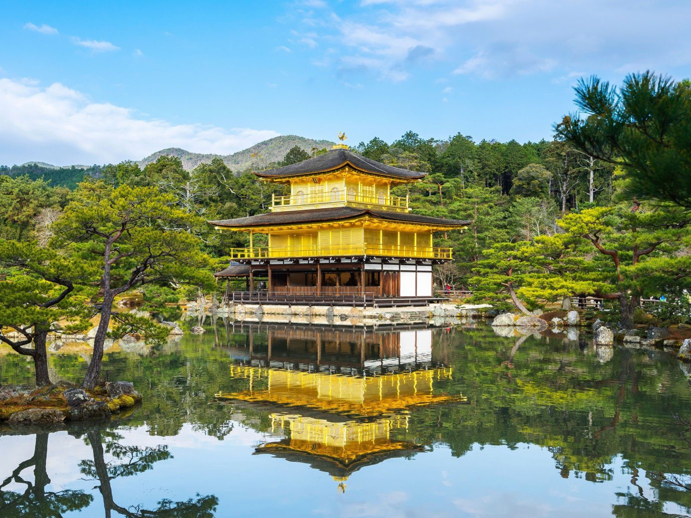 Trip Ideas tree outdoor sky water Nature pond reflection pagoda temple tourism estate Garden palace Lake surrounded
