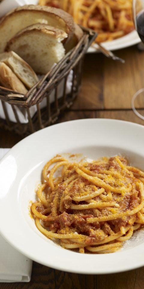 Food + Drink Romance plate food dish cuisine spaghetti italian food produce pici breakfast meal vegetable carbonara european food vegetarian food piece de resistance