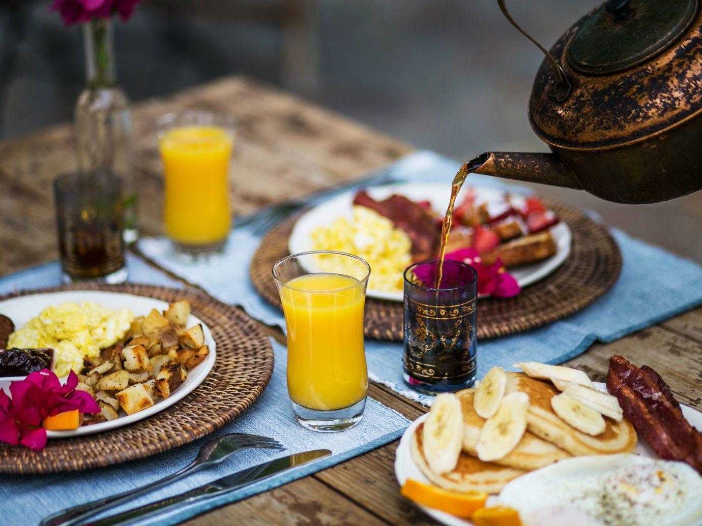 Breakfast spread of Korakia Pensione, Palm Springs