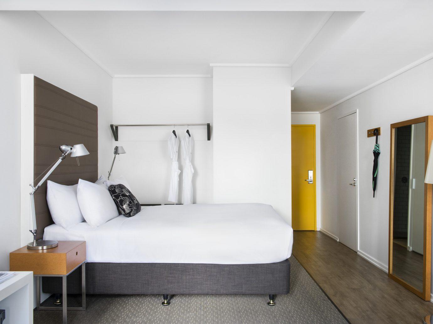 Australia Hotels Melbourne wall indoor floor room Living Architecture ceiling interior design Suite Bedroom bed frame real estate furniture house interior designer