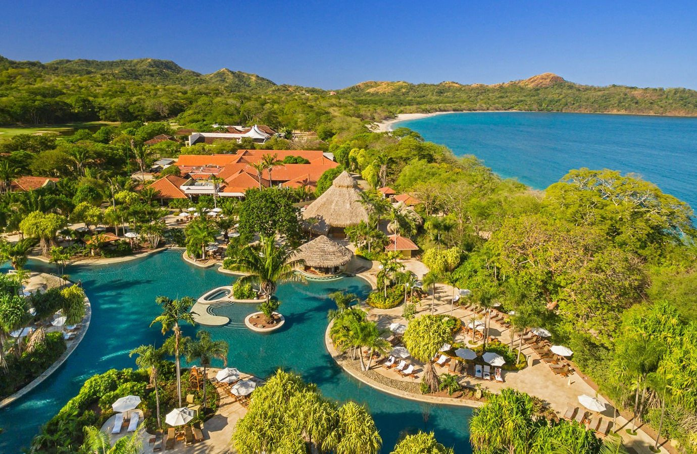 Beach Hotels sky outdoor water Nature Resort leisure promontory resort town tourism aerial photography estate bay bird's eye view Coast mount scenery real estate reef inlet