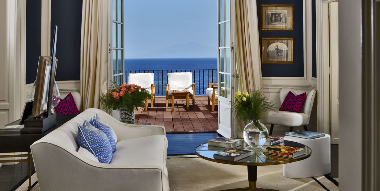 Living room at J.K. Place Capri