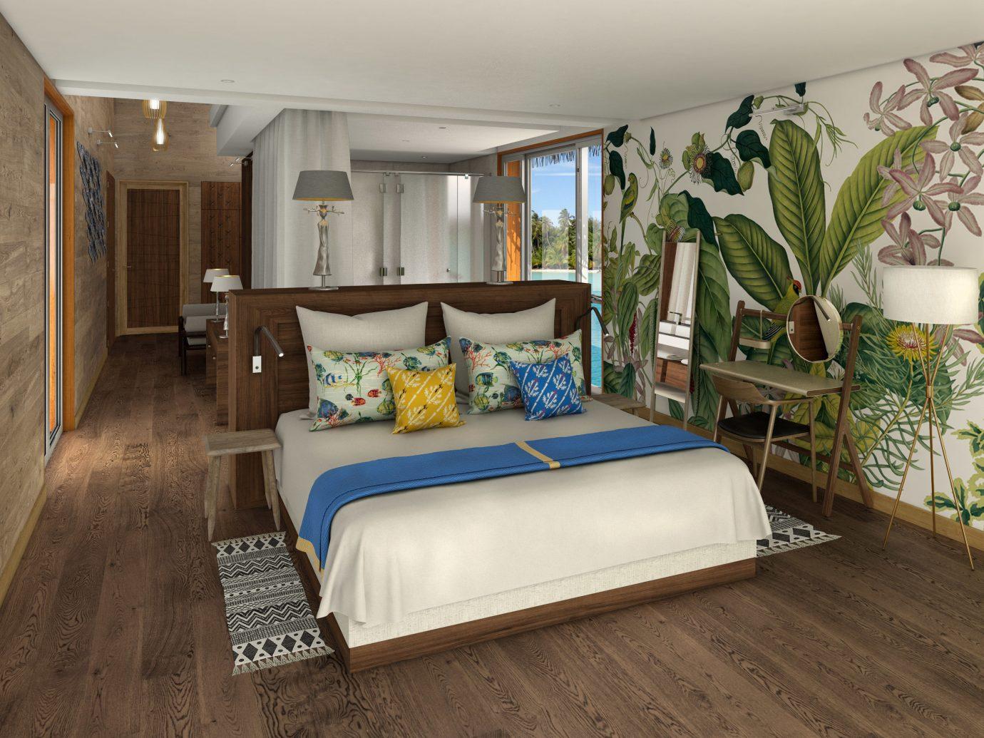 Hotels indoor floor wall room bed ceiling interior design Bedroom Suite bed frame real estate furniture interior designer decorated