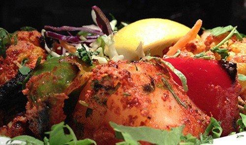 Food + Drink food dish cuisine meat salad produce Seafood tandoori chicken animal source foods meal piece de resistance