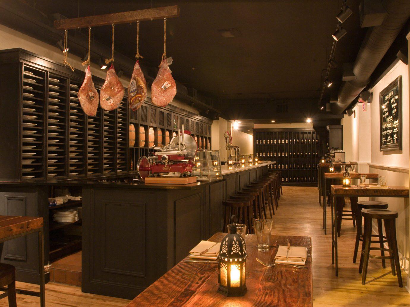 Food + Drink indoor ceiling table floor restaurant Bar meal café interior design cuisine