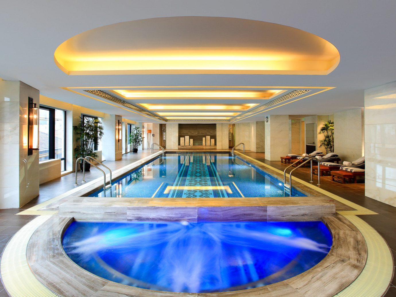 Boutique Hotels Luxury Travel indoor ceiling swimming pool building property leisure Architecture estate real estate leisure centre interior design apartment hotel condominium Lobby thermae penthouse apartment Resort daylighting amenity water