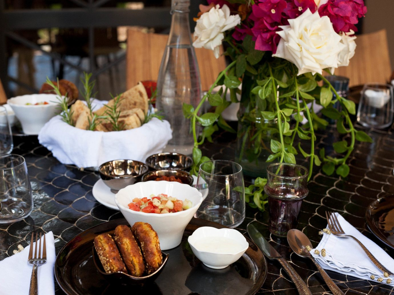 Hotels table plate food meal dish brunch dinner lunch buffet flower supper breakfast sense restaurant cuisine dining table