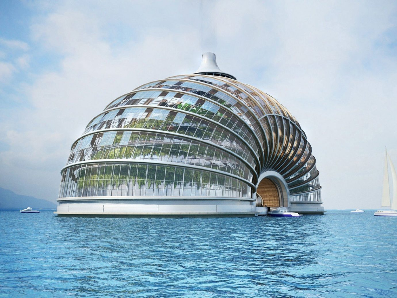 Style + Design water sky outdoor Boat landmark Sea Architecture Ocean atmosphere of earth vehicle dome reflection tower tourist attraction