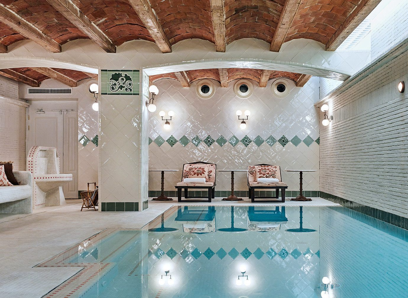 Barcelona Hotels Spain indoor swimming pool estate interior design function hall mansion Lobby Design ceiling