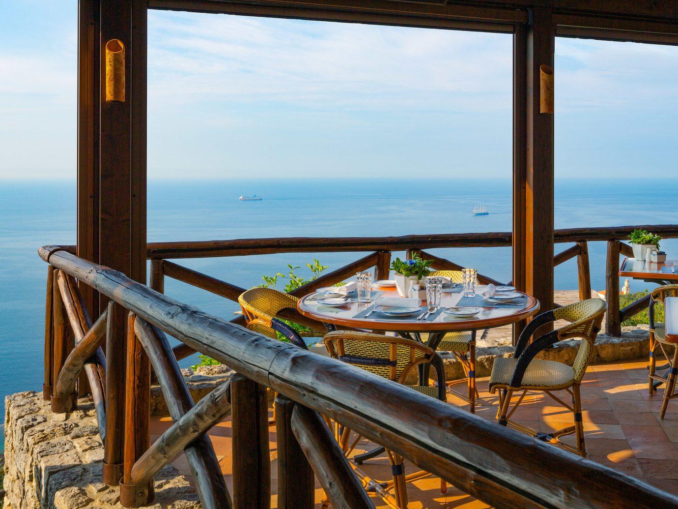 Ocean view from a restaurant at Monastero Santa Rosa, Conca dei Marini