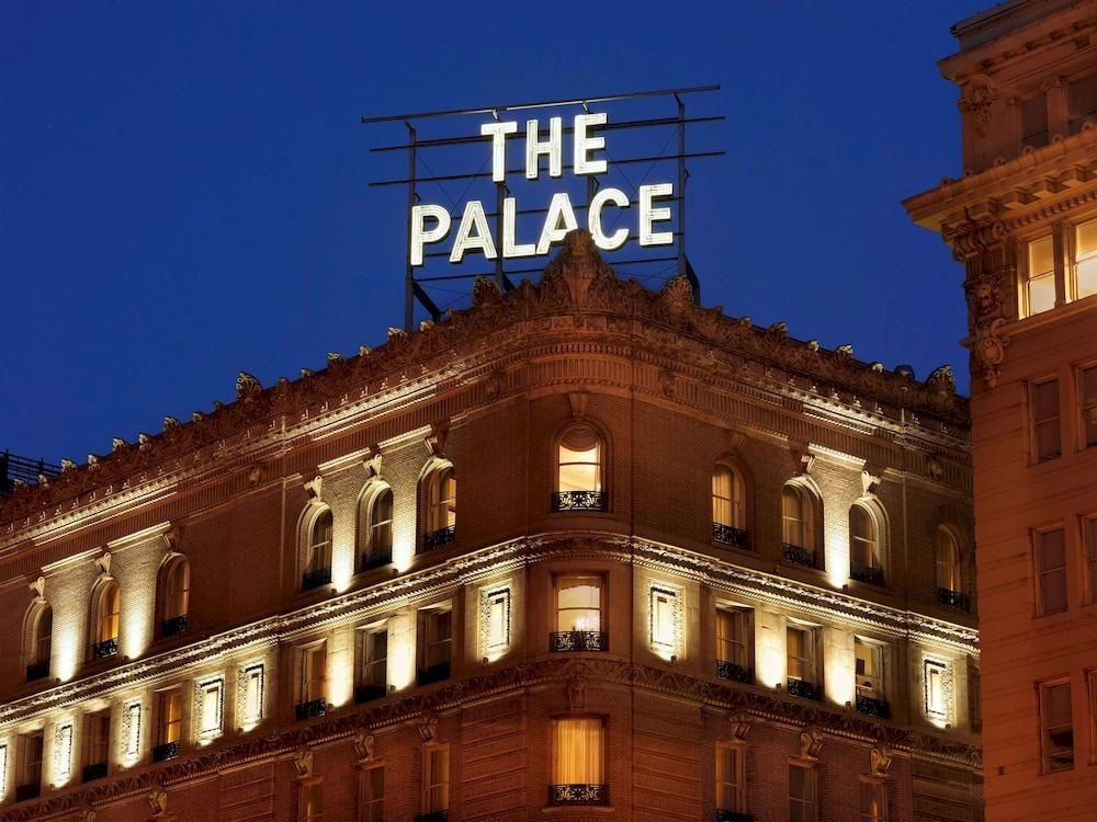 Offbeat building sky outdoor landmark night Architecture facade Downtown evening government building plaza palace tall roof