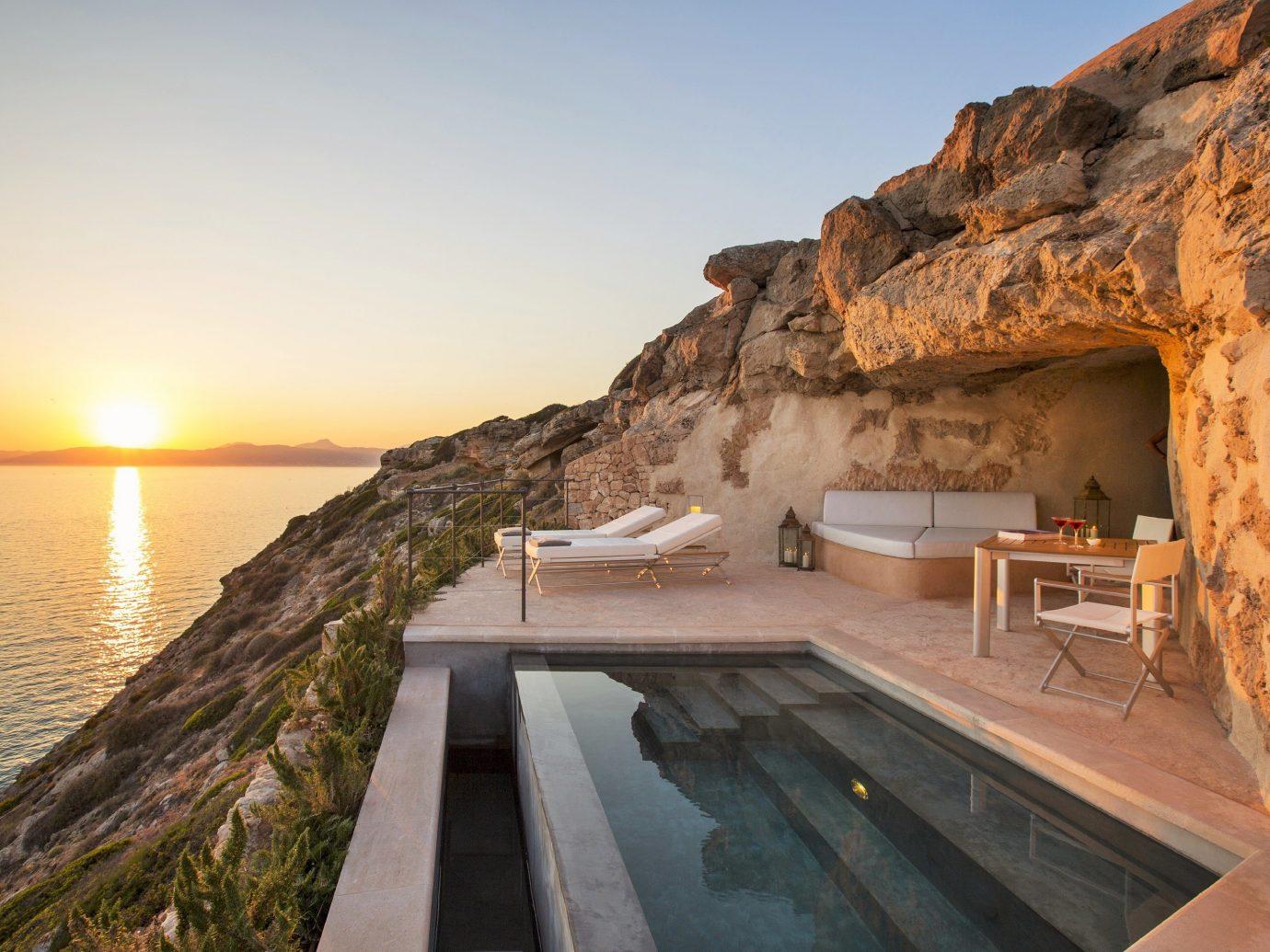 Hotels sky outdoor Nature mountain vacation Sea Coast cape bay canyon terrain stone