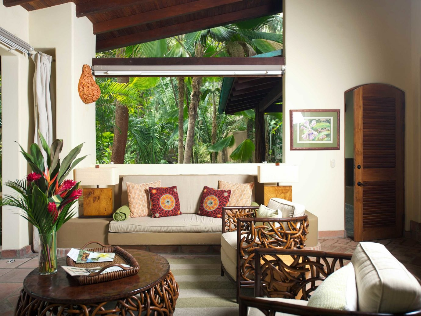 Living Room At Florblanca Hotel In Costa Rica