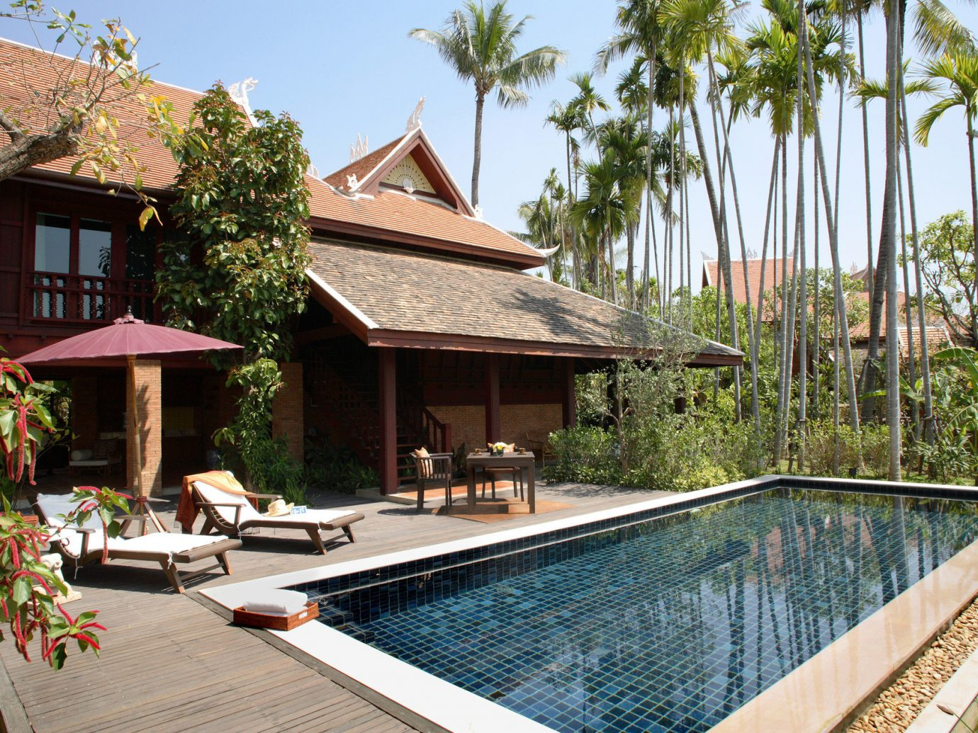 Hotels Romance outdoor tree building swimming pool property house estate Resort home Villa vacation real estate backyard cottage condominium mansion outdoor structure