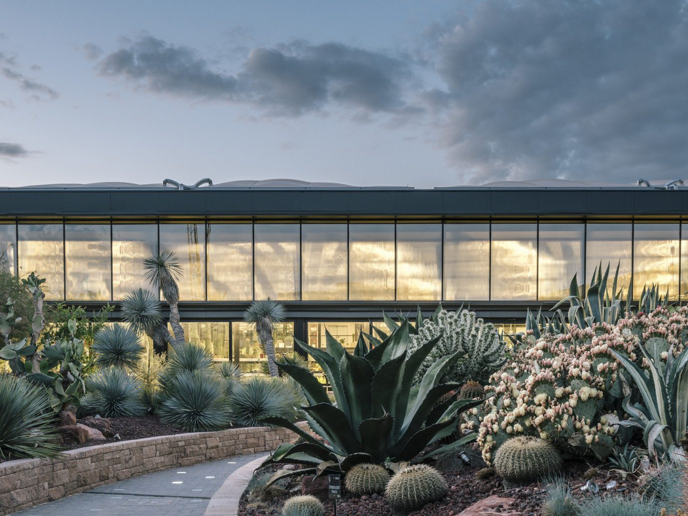 Offbeat Style + Design Travel Trends plant Architecture flower agave landscape cactus real estate sky house outdoor structure landscaping facade tree Garden