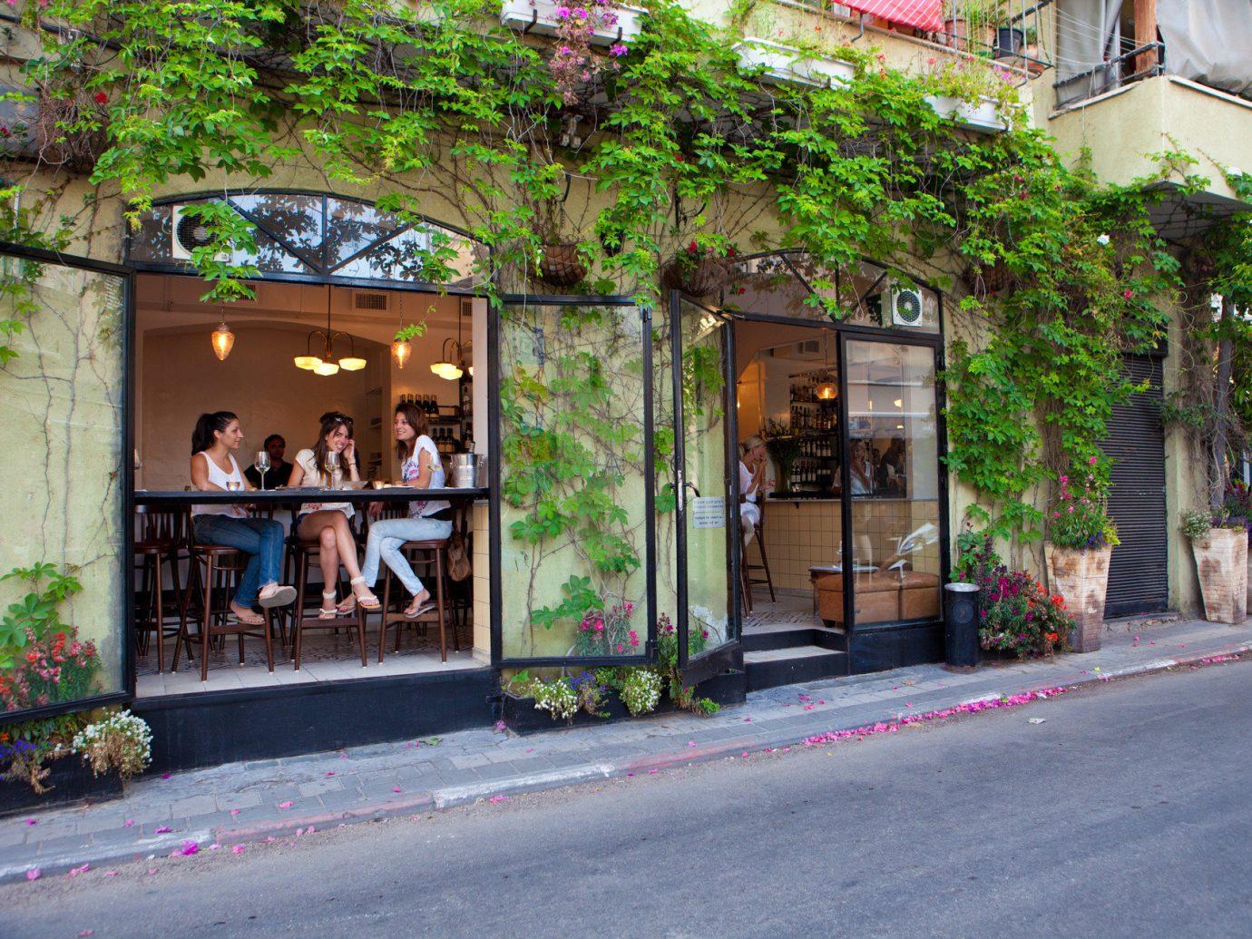 Budget road outdoor street neighbourhood urban area Town way sidewalk restaurant flower