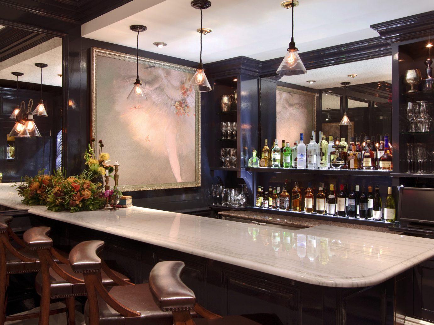 Food + Drink Romance indoor Bar restaurant counter interior design meal café estate table Island dining table
