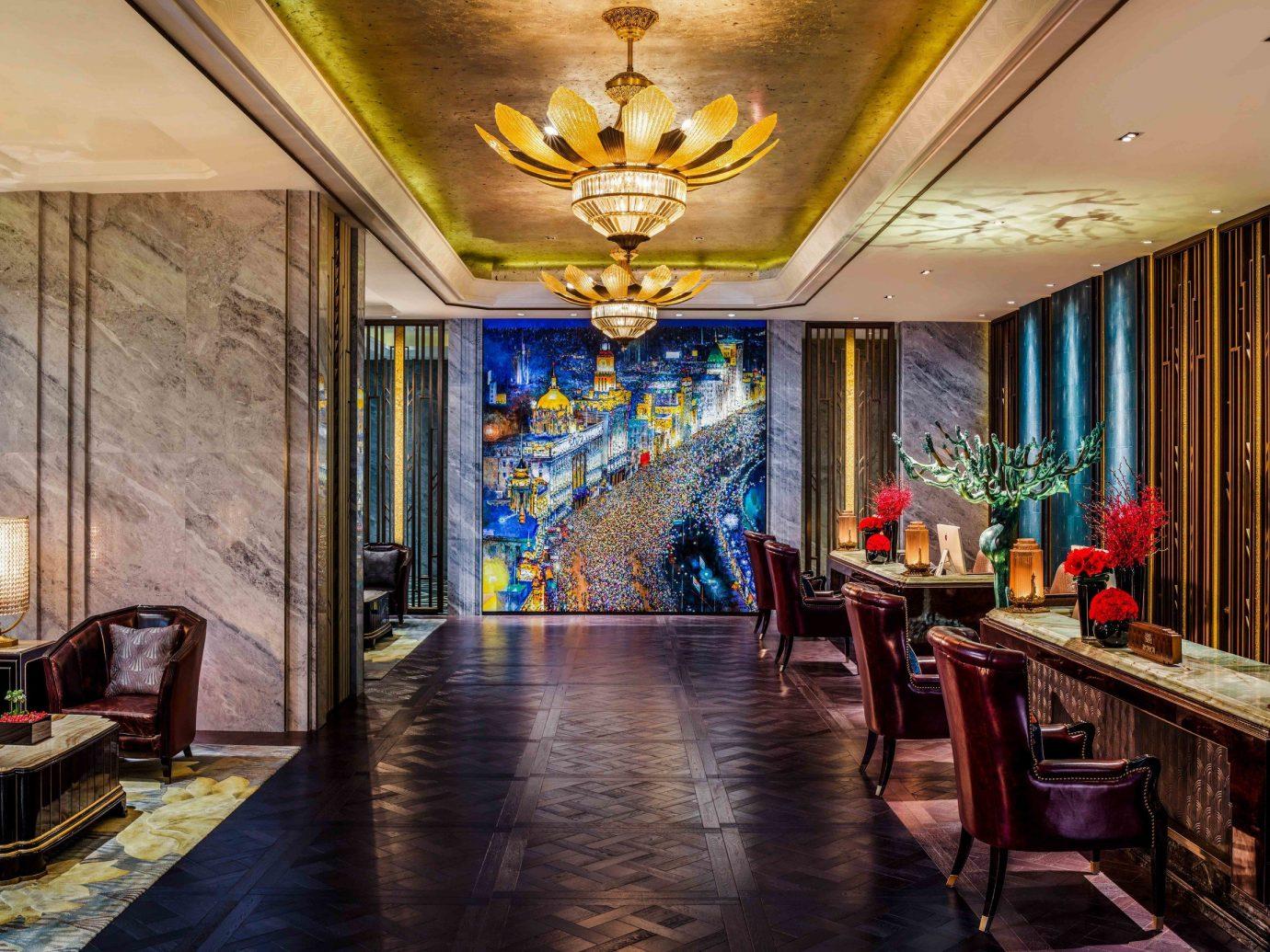 Boutique Hotels Luxury Travel indoor floor ceiling room interior design Lobby window living room real estate hall furniture