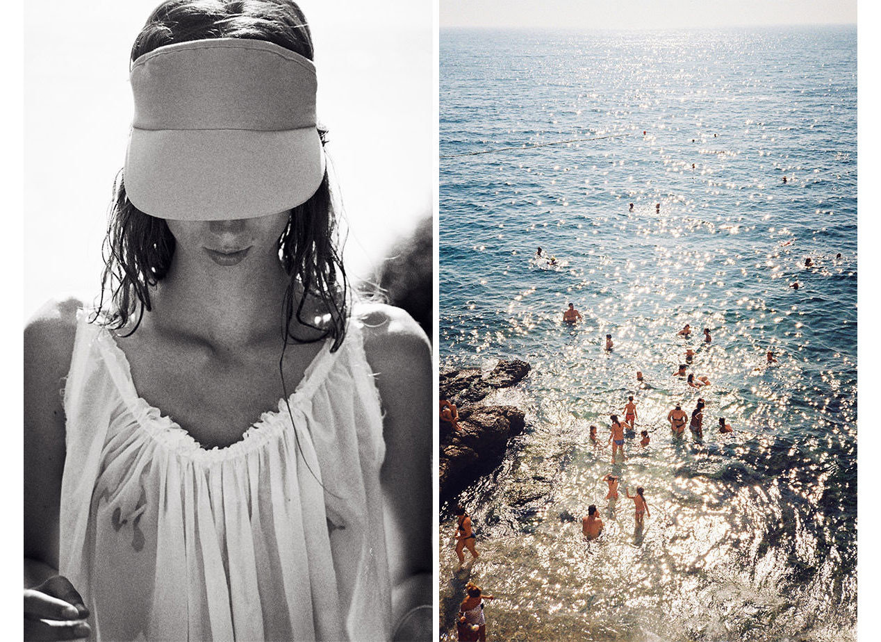 Style + Design Travel Shop person water outdoor woman headgear black and white vacation beautiful
