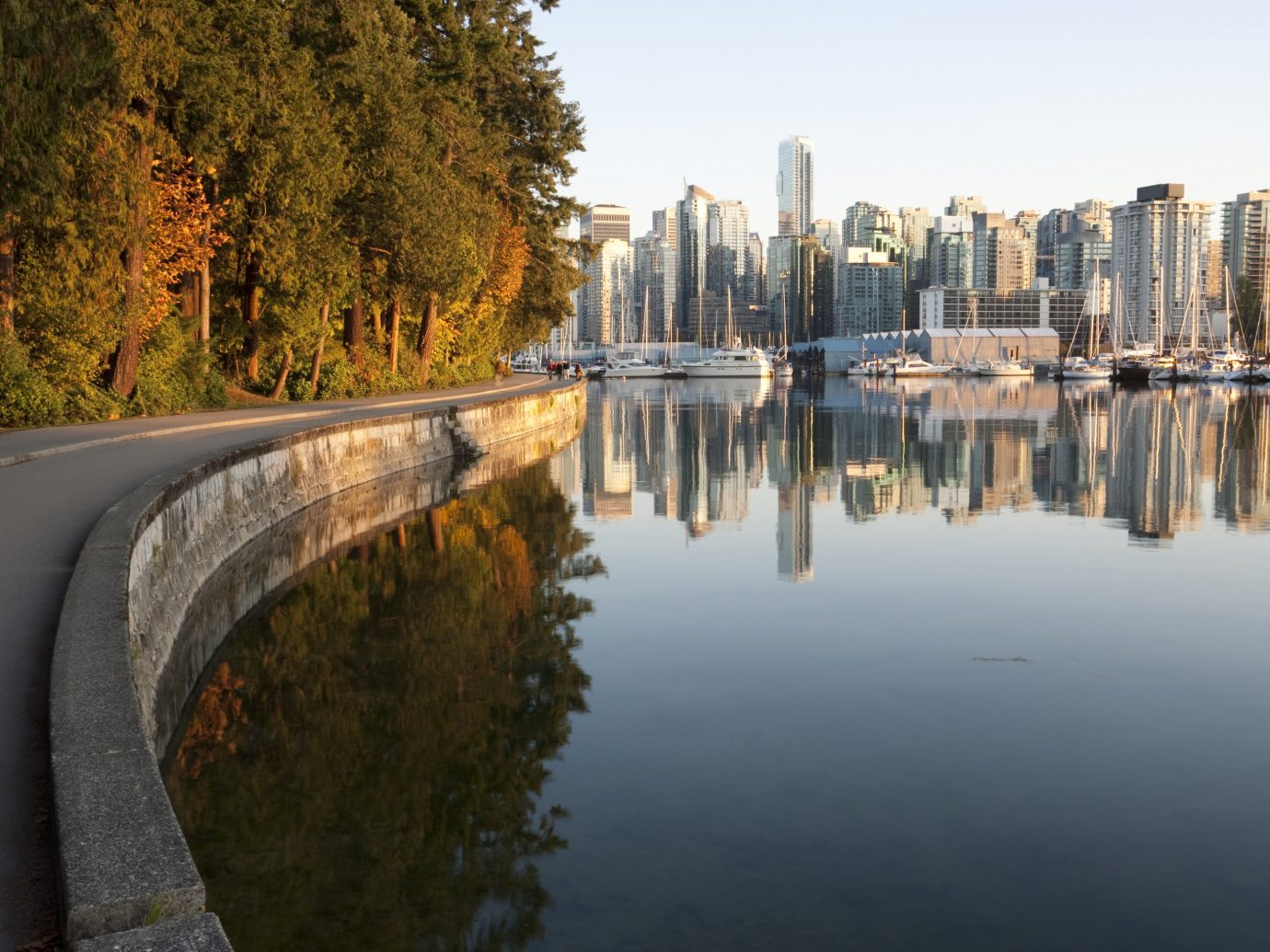 Offbeat Trip Ideas outdoor water sky reflection body of water Canal tree River waterway season morning autumn Lake day