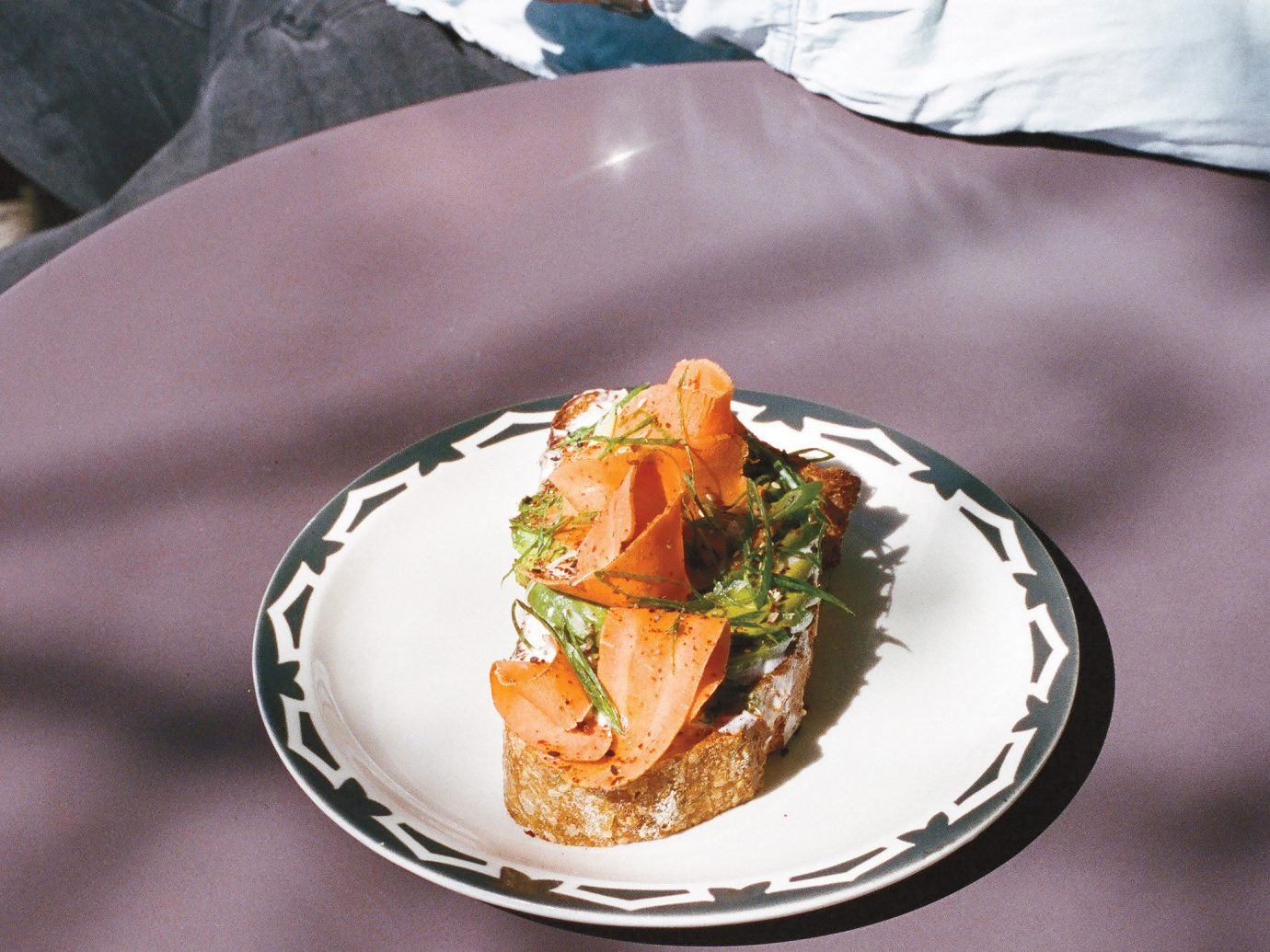 Food + Drink Health + Wellness Travel Tips plate person food dish meal fork sense restaurant dinner cuisine dessert eaten