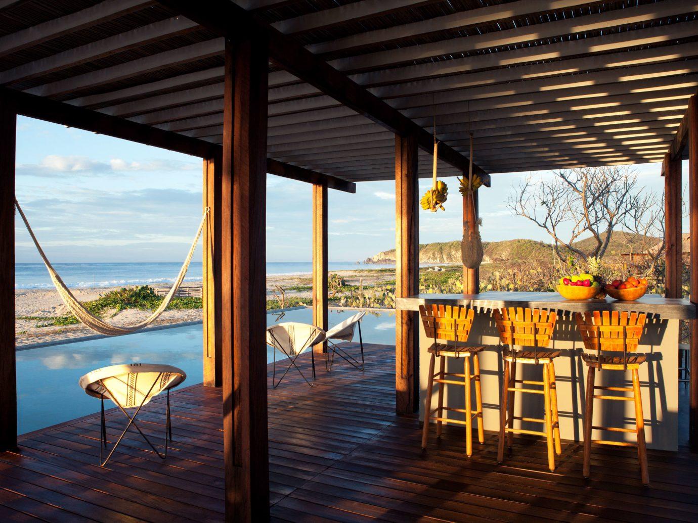 Outdoor bar at Hotel Escondido, Puerto Escondido, Mexico