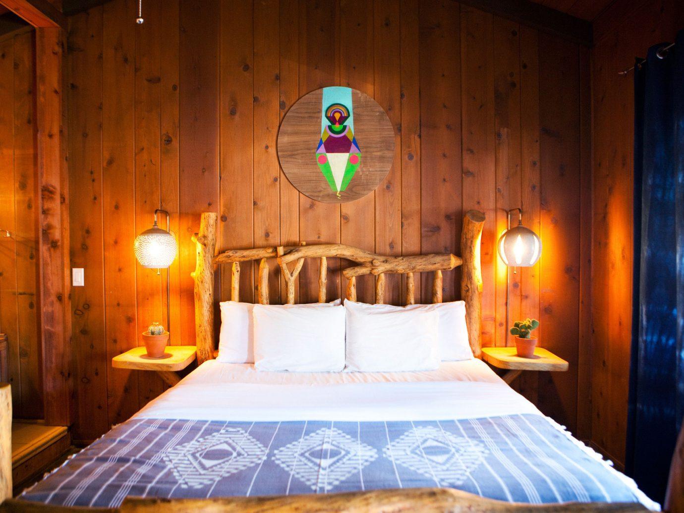 Trip Ideas indoor wall bed room ceiling Resort estate light cottage Bedroom decorated