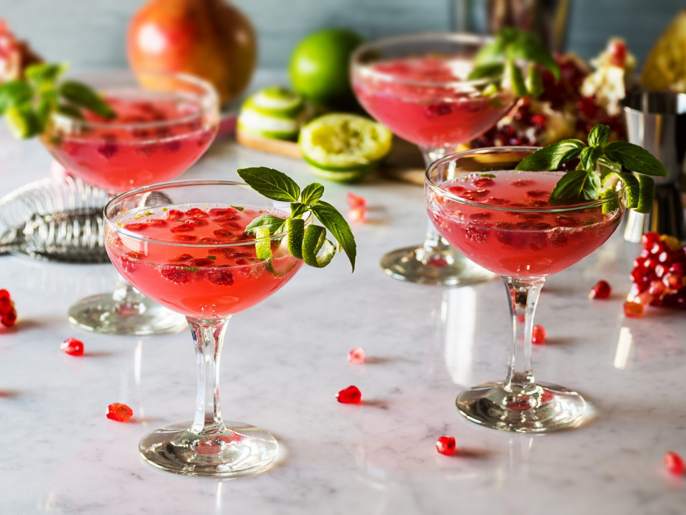 Style + Design alcoholic beverage cocktail Drink food produce wine meal glass fruit several colored