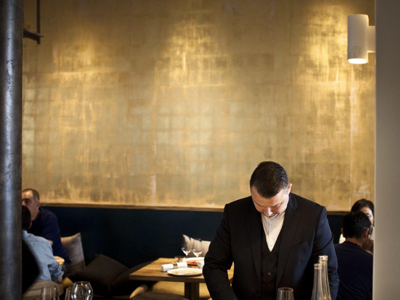 Food + Drink person indoor man interior design conference room