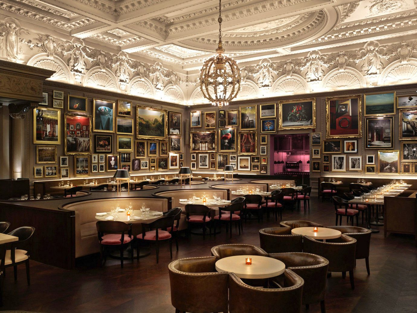 Bar Boutique Hotels Dining Drink Eat Hip Hotels London Luxury Modern Romantic Hotels Trip Ideas table indoor floor ceiling scene restaurant café interior design coffeehouse function hall meal room several dining room