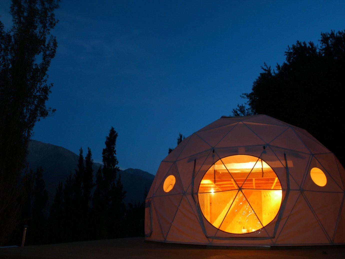Trip Ideas sky outdoor tree night light darkness dome lighting evening sunlight lit Sunset