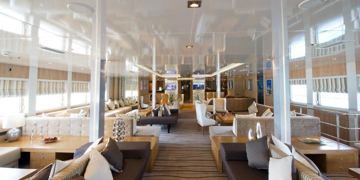 Trip Ideas indoor window room passenger ship Boat vehicle yacht ship watercraft interior design Resort restaurant luxury yacht condominium furniture