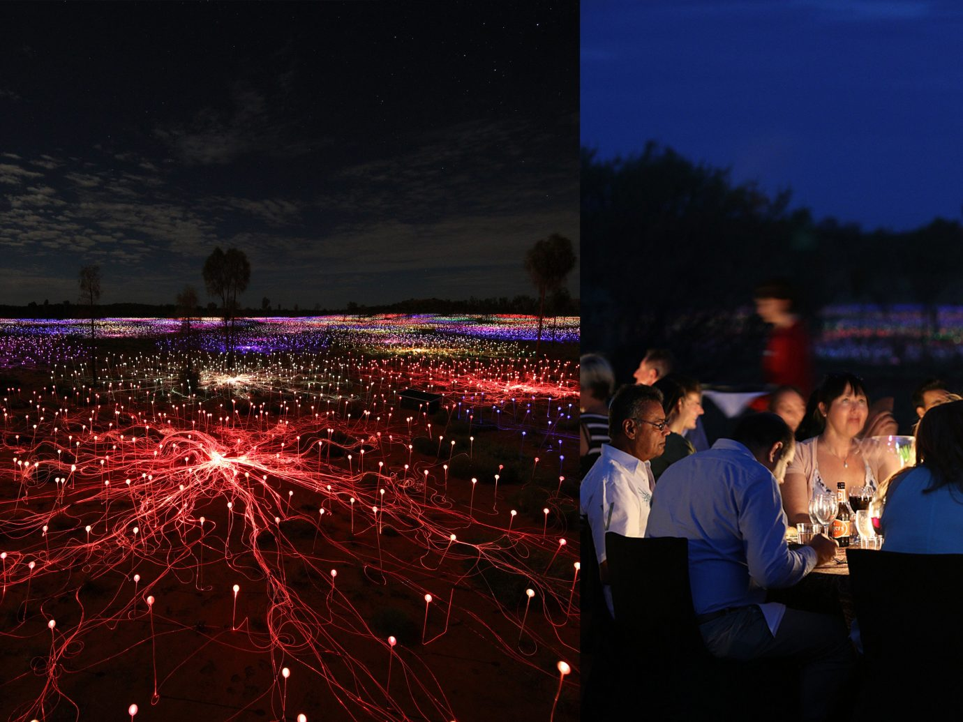 Food + Drink outdoor crowd night outdoor object light atmosphere of earth evening audience dark