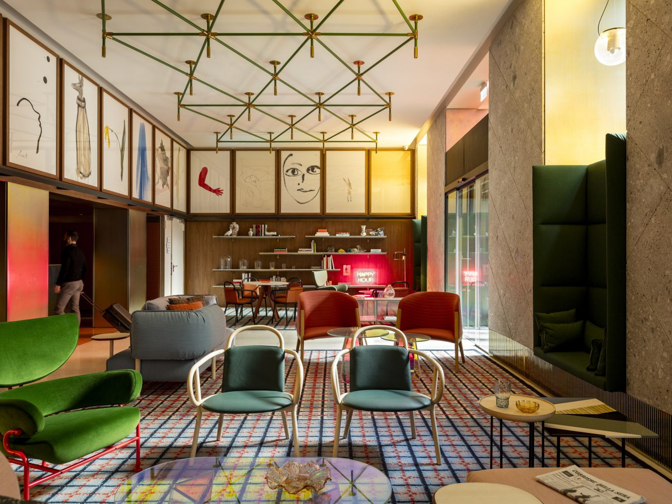 Hotels Italy Milan Offbeat indoor property room Lobby restaurant interior design estate Design real estate living room recreation room