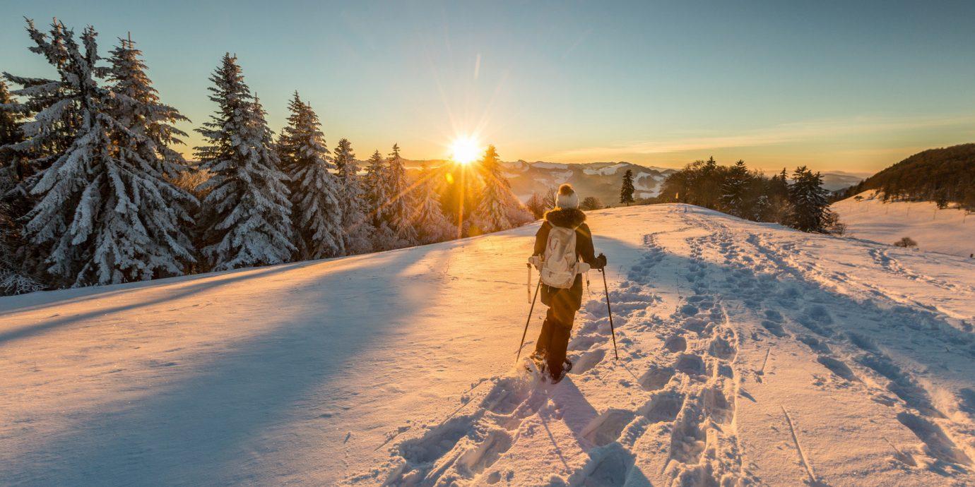 Offbeat outdoor sky snow Winter Nature weather season mountain morning freezing sunlight mountain range ice shore day