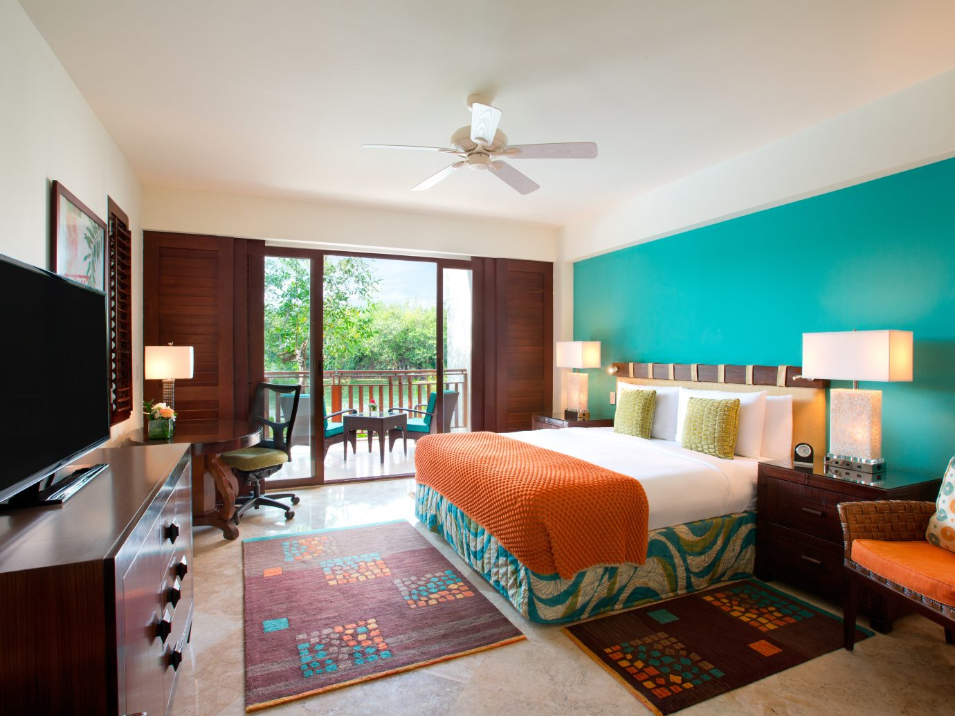 A beachfront bedroom with a terrace at Fairmont Mayakoba