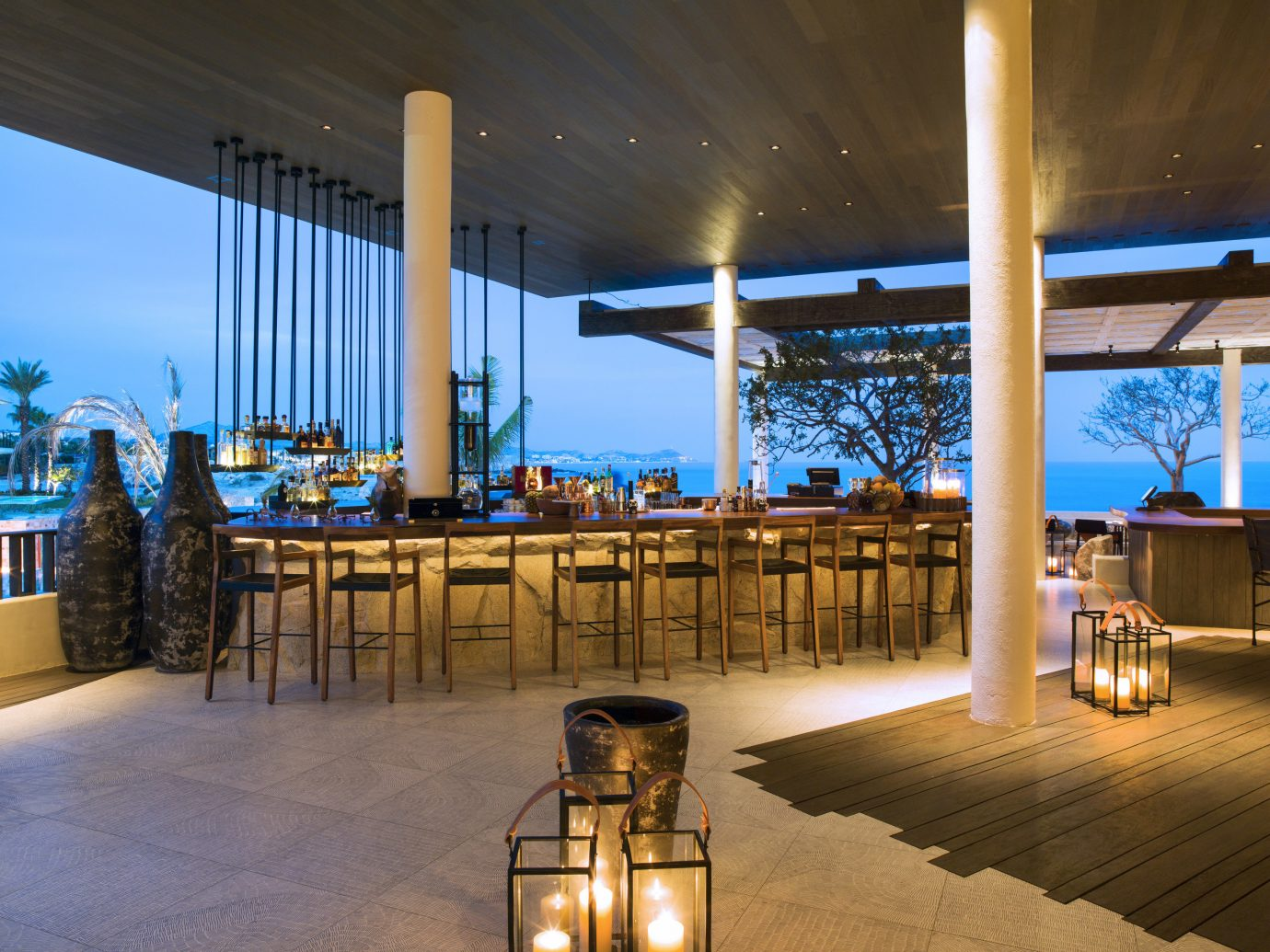Hotels indoor ceiling Resort restaurant estate interior design convention center Design Lobby furniture area several