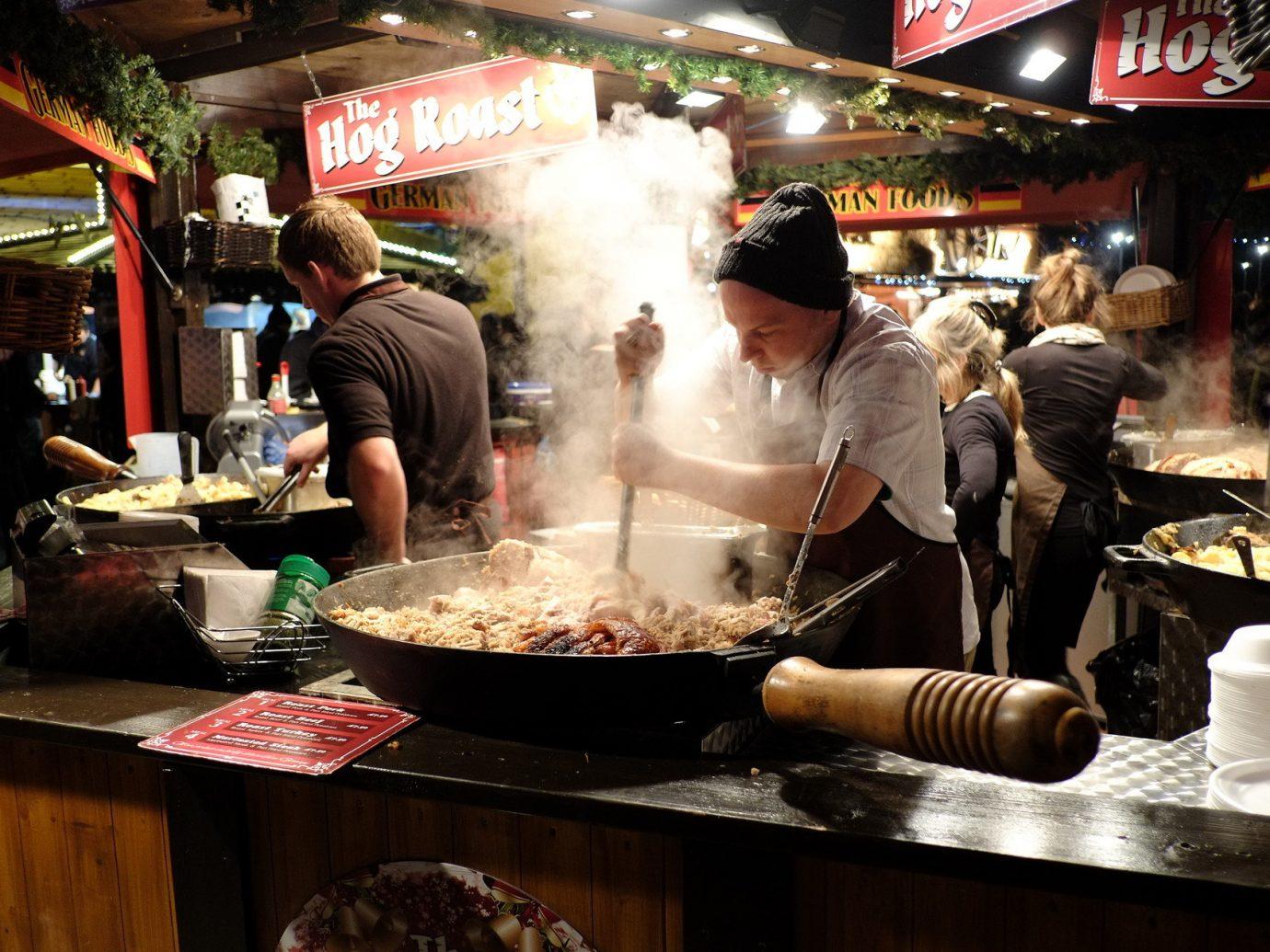 Budget person food public space City street food restaurant dish Bar sense market cooking preparing