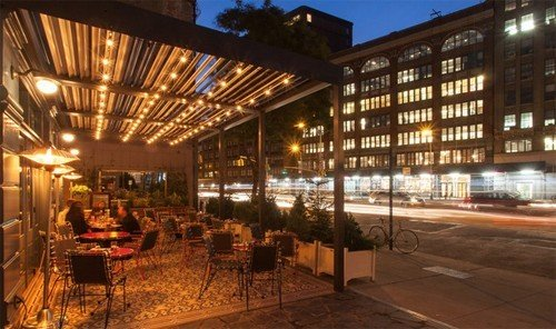 Food + Drink outdoor plaza restaurant convention center estate night