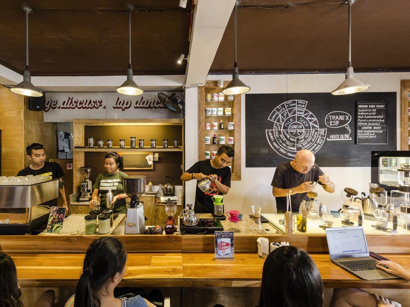 Food + Drink indoor person ceiling restaurant coffeehouse interior design café food cuisine
