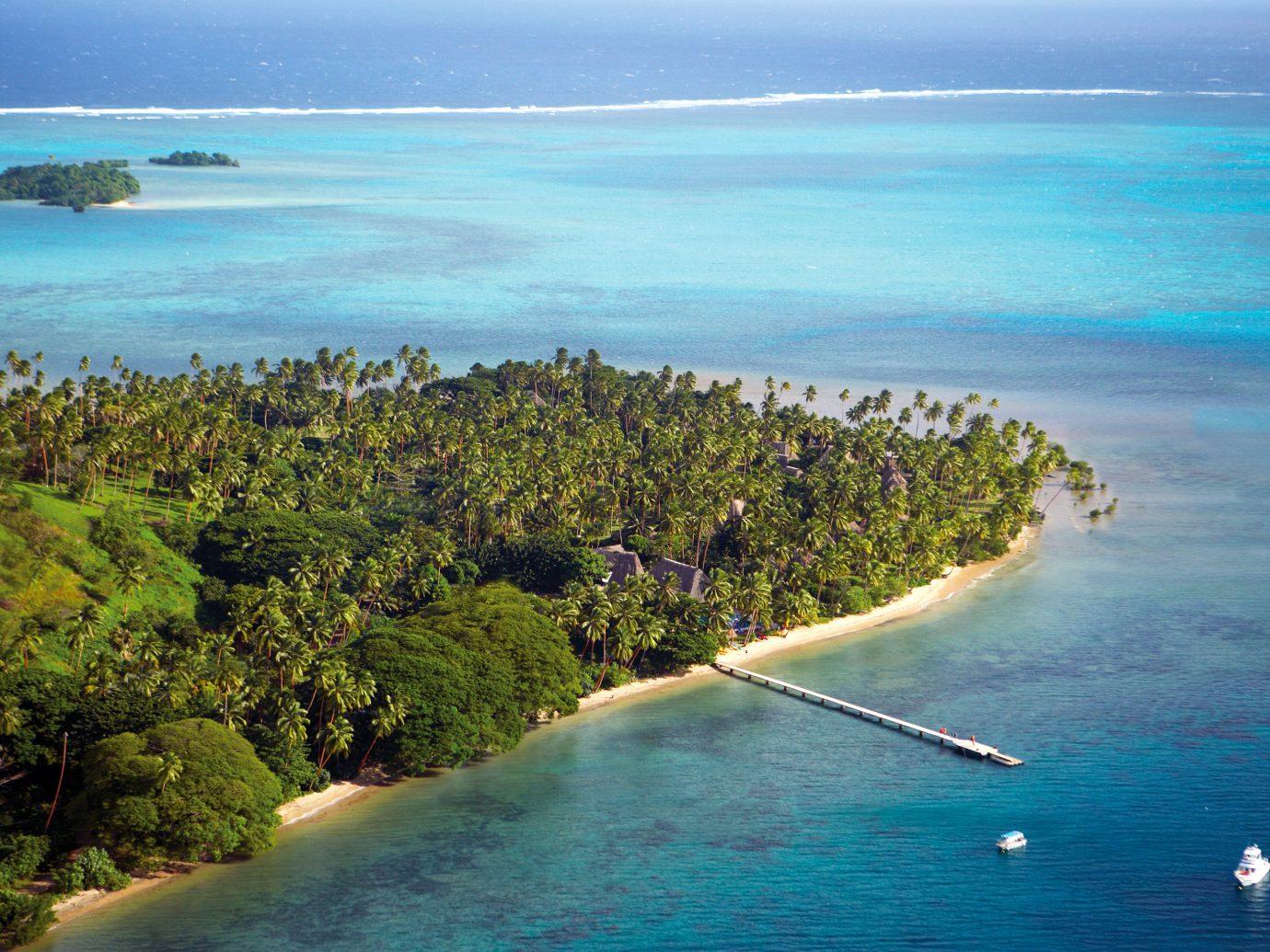 Aerial view of Jean-Michel Cousteau Resort, Fiji