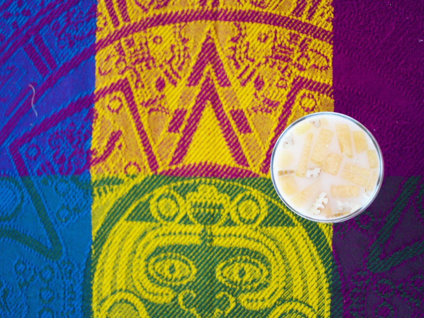Jetsetter Guides yellow art pattern circle Design textile fabric