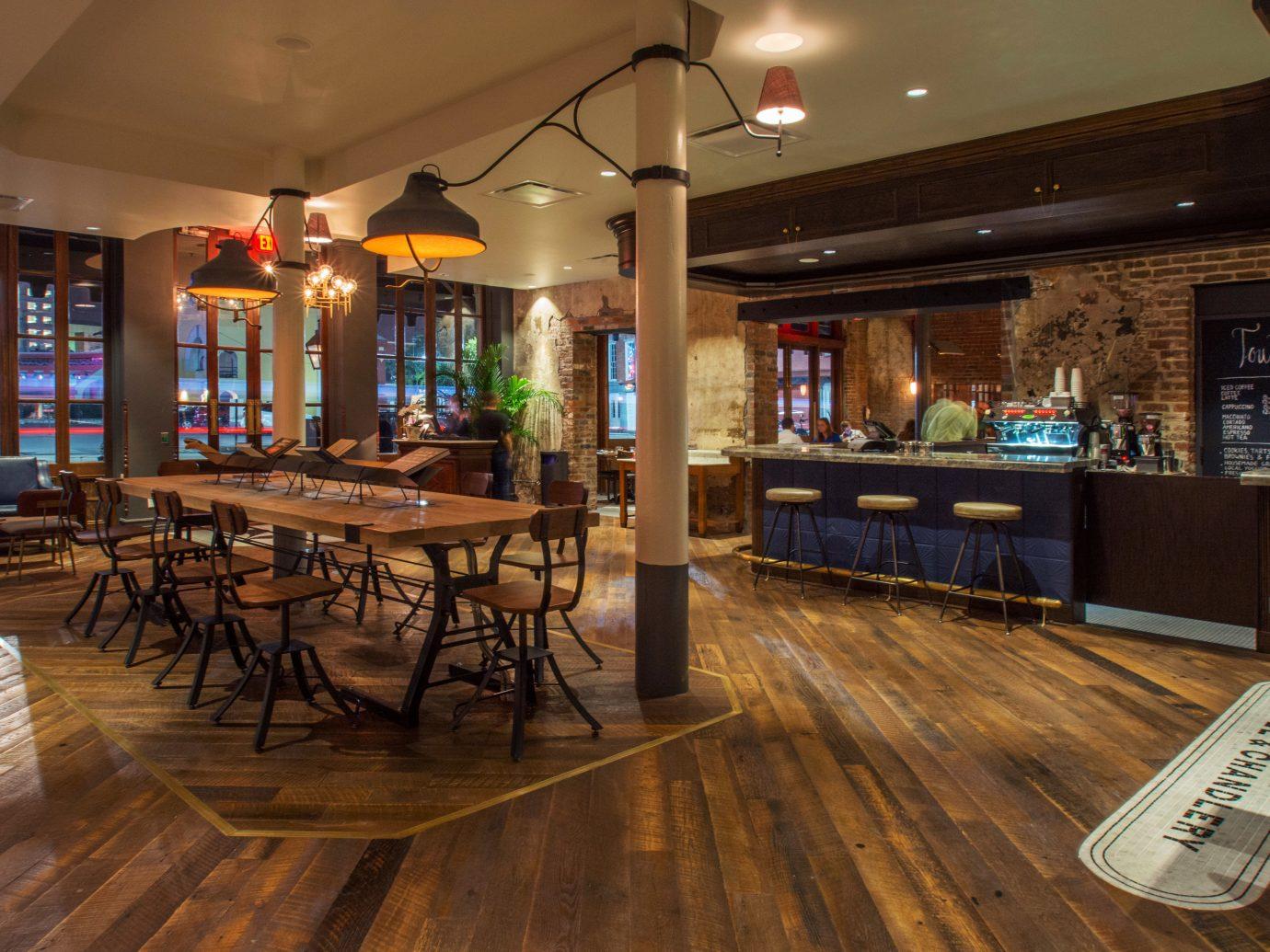 Bar Dining Drink Eat Luxury Trip Ideas floor indoor ceiling recreation room Lobby room billiard room estate home interior design wood real estate restaurant flooring furniture